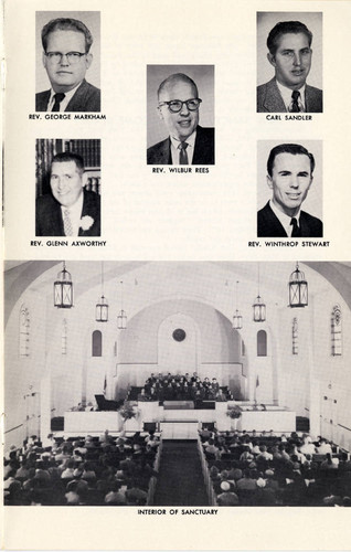 First Baptist Church of Sunland 50th Anniversary, 1960