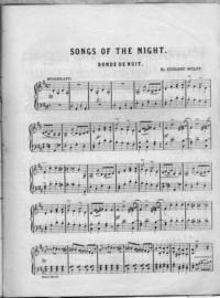Songs of the night. Ronde de nuit