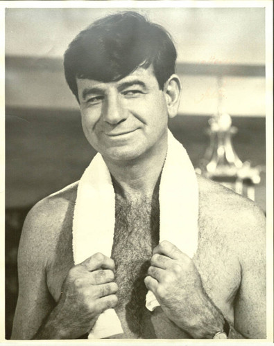 Headshot of Walter Matthau with dedication to Micky Moore
