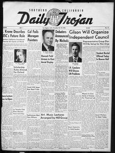 Daily Trojan, Vol. 38, No. 19, October 10, 1946