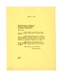 Letter to John F. Dockweiler, April 9, 1942