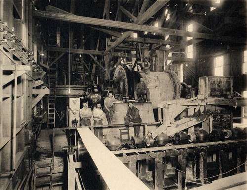 Ball Mill at Engelmine copper mine