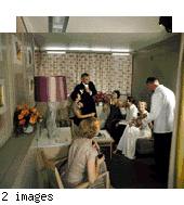 Color transparencies: posed interior shots (color interiors 1950s)