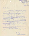 Letter from Yoshiko Kuwahara to Mr. [John Victor] Carson, and statement by [John] Victor Carson, August 20, 1942