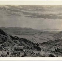 Photographs of Sketches of Western Pioneer Trail scenes