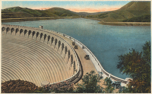 calisphere mulholland dam hollywood reservoir hollywood