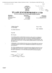 [Letter from P Tlais to Gallaher Group PLC Regarding Received Fax]