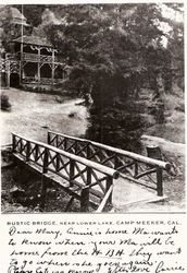 Living tower, built with four living redwood trees in Camp Meeker
