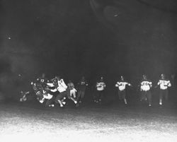 Analy High School night football game in 1950--Analy vs Petaluma