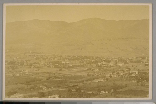 Santa Barbara from the Mesa, Santa Barbara, Cal. April 21st, 1884