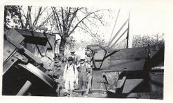 Wreck of a P&SR train, about 1934