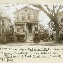 View of 1232 H Street, home of C. Lages. It was built in the late 1870's