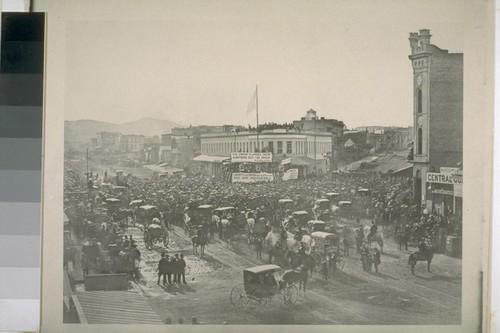 Speech by Starr King at the corner of Montgomery, Post, and Market Streets, for the Union. 1861 or 1862