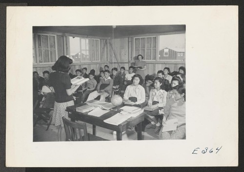 A scene in Jr. High School--the ninth grade. Mrs. M. H. Ziegler, teacher. Photographer: Parker, Tom McGehee, Arkansas