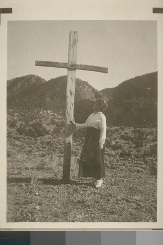 Mary Austin at the Pecietente Cross at Pilar