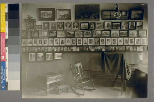 Taken Saturday, April 22nd, 1922. [Interior of photography studio of Max W. Greene.]