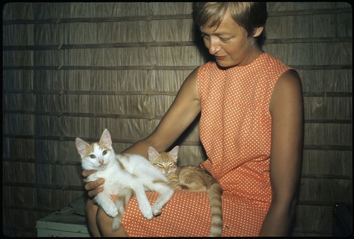 Anne Scheffler and cats
