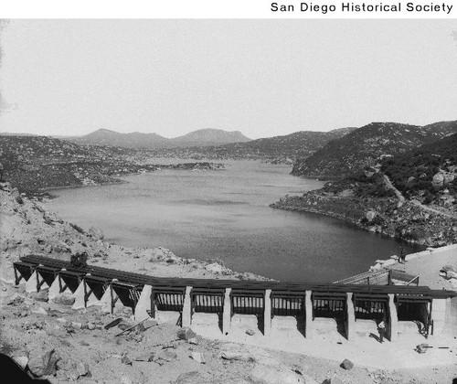 View of Morena Dam and Lake Morena