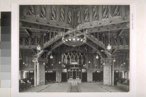 First Church of Christ, Scientist, Berkeley: [interior, view of sanctuary down nave]