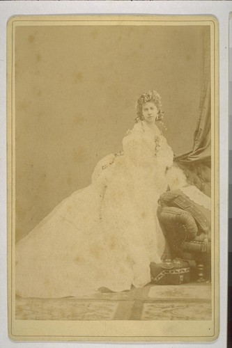[Portrait of Mrs. I.W. Taber? Photograph by Isaiah West Taber?]