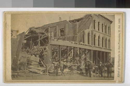 Effect of Earthquake in San Francisco, 21 Oct. 1868