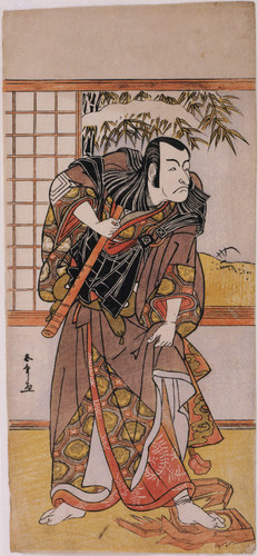 The actor Ichikawa Danjuro V as Kakogawa Honzo in act 9 of The Storehouse of Loyalty