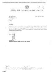 [Letter from Norman Jack to Mike Clarke regarding the receivership of order for Ocean Traders]