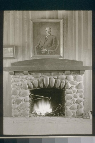 No. 217. Dr. Mead's portrait hanging in library room of community hall, August 14, 1923