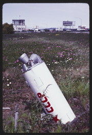 MAY83P2-21: CCCP detritus, wildflowers