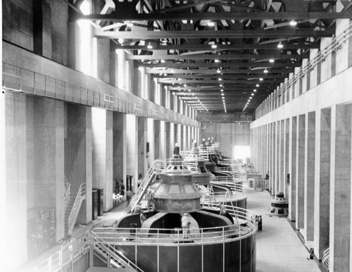 Calisphere: Interior machinery at Hoover Dam