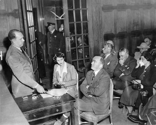 [Sylvester Andriano at hearings on alleged Fascist activities]