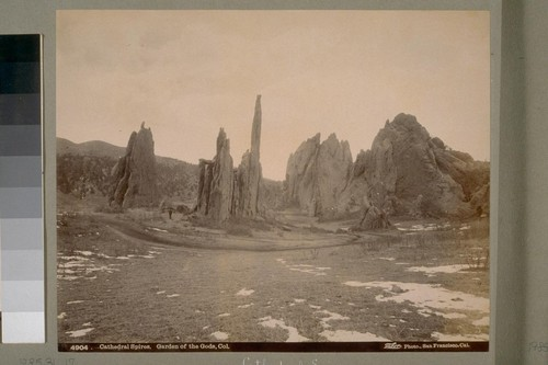 Cathedral Spires. Garden of the Gods, Col. [Colorado]. 4904. [Photograph by Isaiah West Taber.]