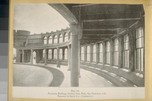 Panorama Building, Golden Gate Park, San Francisco, Cal. [California] Ransome & Smith, Co., Contractors [magazine clipping]