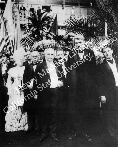 President William McKinley and dignitaries at event