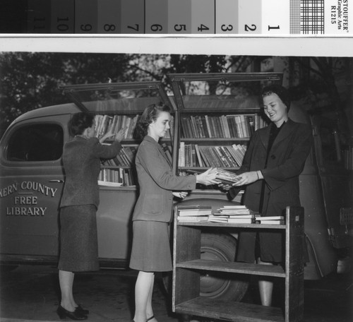 Loading the Kern County Free Library Bookmobile