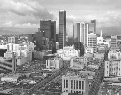 [Aerial view of Los Angeles from Occidental Building]