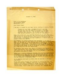 Letter from Isidore B. Dockweiler to Fred of the Mayflower, January 17, 1946