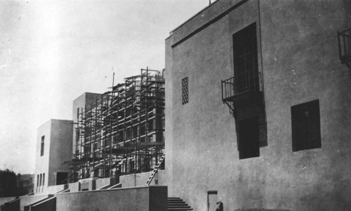 LAPL Central Library construction, south face