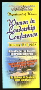 Woman in leadership conference, Southern California, COGIC, 2002, flier