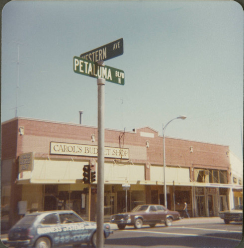 Corner of Petaluma Boulevard North and Western Avenue, Petaluma, California, September 8, 1977
