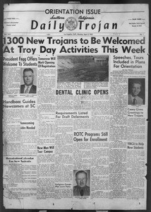 Daily Trojan, Vol. 44, No. 1, September 08, 1952