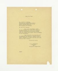 Letter from J. C. Humphreys to Abbott C. Bernay, July 22, 1942