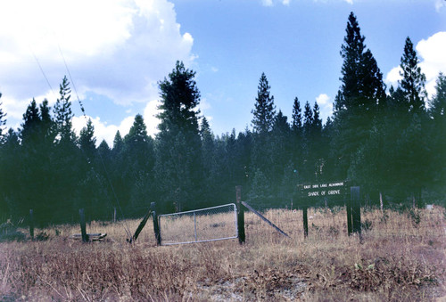 View of the Indian cemetery on the east side of Lake Almanor