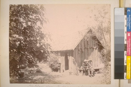Peter Davis' Place--The old man and his guest. Ridge near Sheep Ranch (Calaveras Co.). [No.] 4