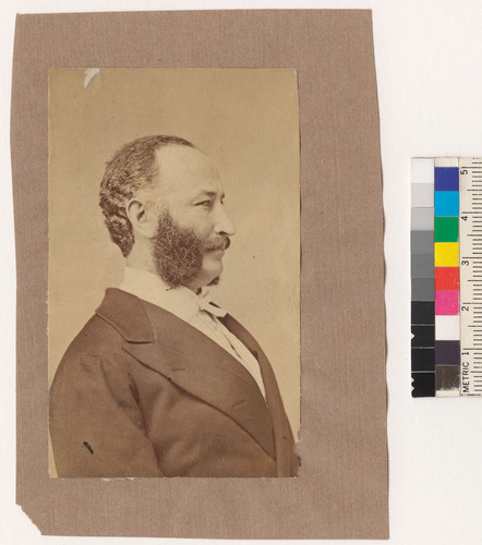 [Profile portrait of Adolph Sutro.]