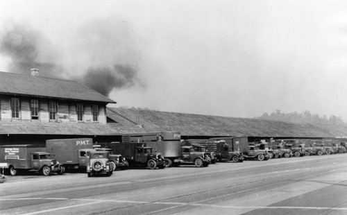 Southern Pacific and Pacific Motor Transport loading dock