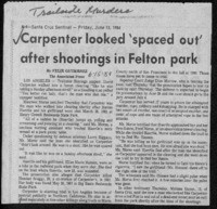 Carpenter looked 'spaced out' after shootings in Felton park