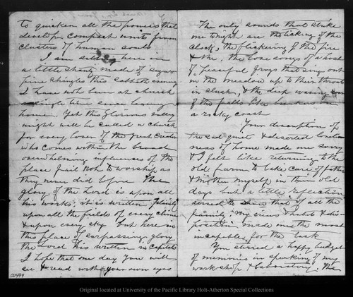 Letter from John Muir to David [Gilrye Muir], [1870?] Mar 20