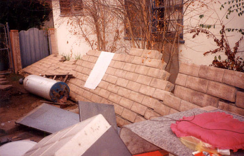 Earthquake damage, Canoga Park, Calif., January 1994
