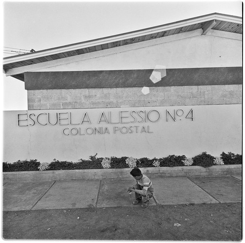 Exterior of the Alessio School Number 4, Colonia Postal